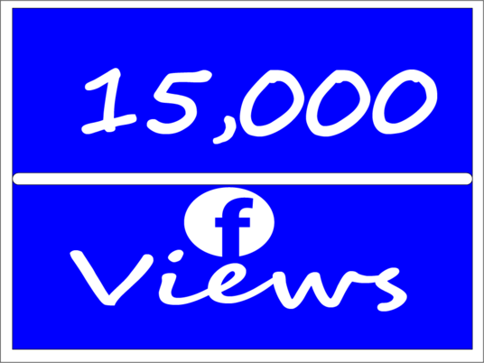 I will Add Real 15,000 Facebook Video Views