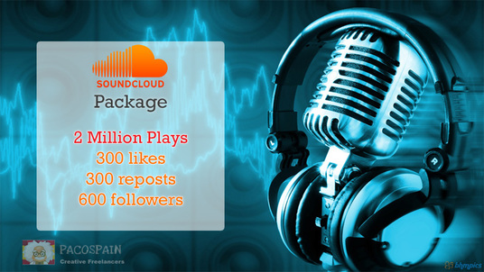 I will do 2 million SoundCloud plays, likes, re-posts and followers - cheapest package ever