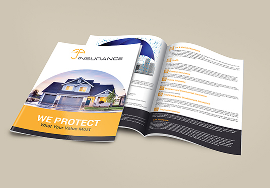 do 8 page magazine booklet brochure catalogue design with print