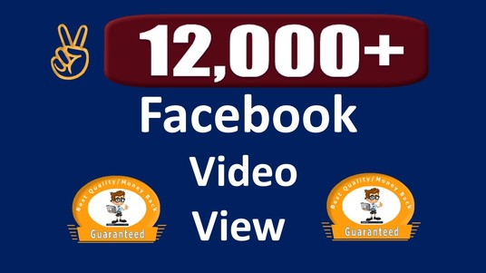 I will Add 12,000+ Permanent  Post Video Views, Real & Active User Guaranteed