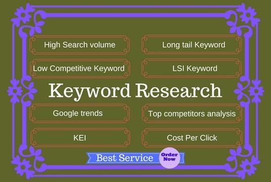 I will do Keyword research and competition analysis for your niche