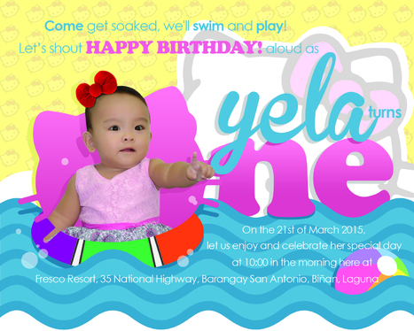 Design Birthday And Christening Invitation Card For Your Lil Ones