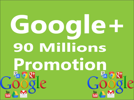 I will Promote Your Website 90 Millions Google Plus Active Members