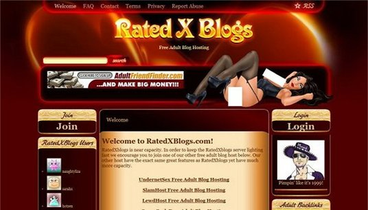 I will give you adult backlinks from RatedXblogs