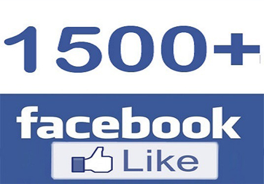 I will add real & active 1500+ Facebook likes or fans your page