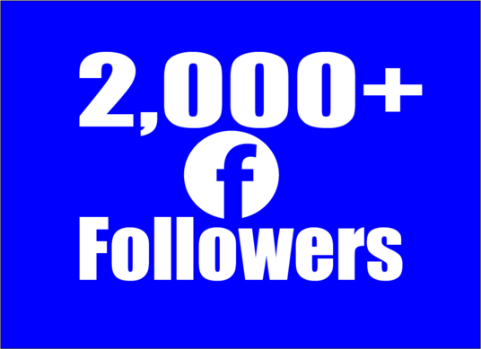 I will provide 2000 Facebook Real and Active Followers