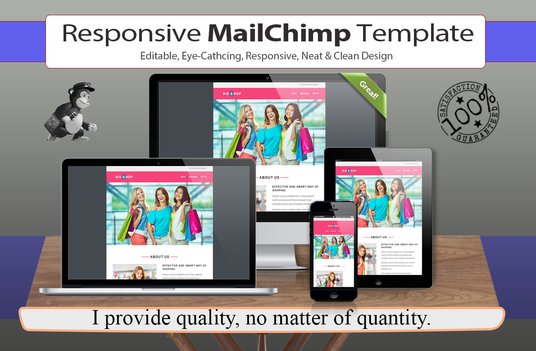 I will Make Responsive, Editable & Eye Catching Mailchimp Email Template