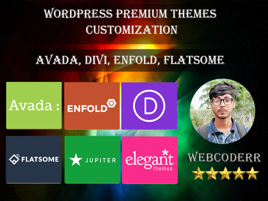 I will Customize Wordpress Avada, Divi, Enfold And Flatsome Themes