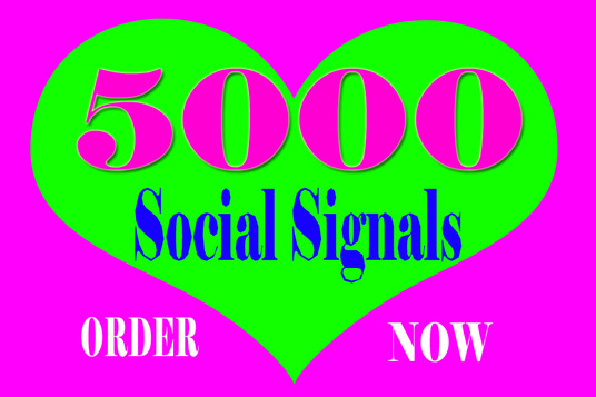 I will Add 5,000 Social Signals to your URL