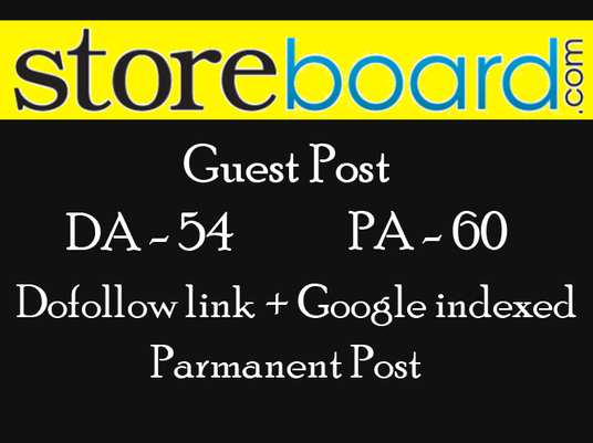 I will Publish a guest post on Storeboard