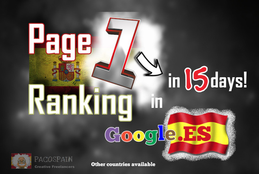 rank you on page 1 on Google.ES in 15 days + free traffic 30 days