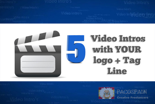 create 5 Video Intro Animations with your brand