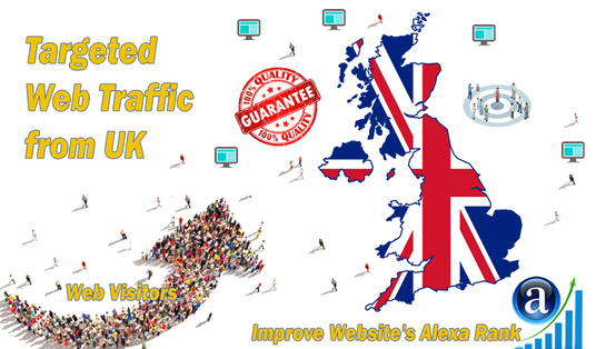 I will send real targeted geo traffic web visitors from UK