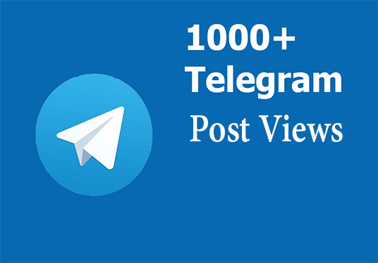 I will build your telegram post views to 1000+ real people