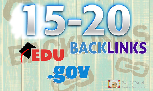 I will manually build 15-20 .edu-.gov backlinks
