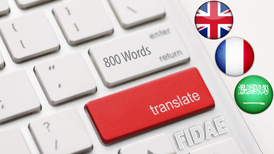 I will translate your document English/French/Arabic (800 Words)