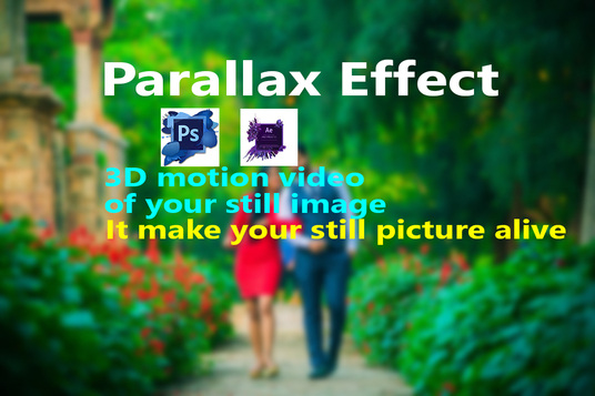 I will do  Parallax effect in your still Image
