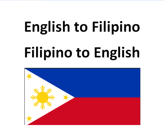 I will translate 200 Filipino sentences or phrases to its nearest English equivalent OR vice vers