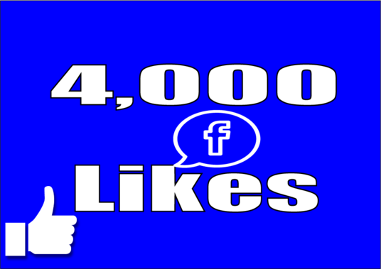 I will Give you Instant 4,000 Facebook Page Post Likes