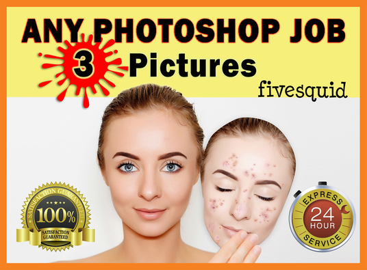 I will do any PHOTOSHOP editing of 3 pictures within 24 hr