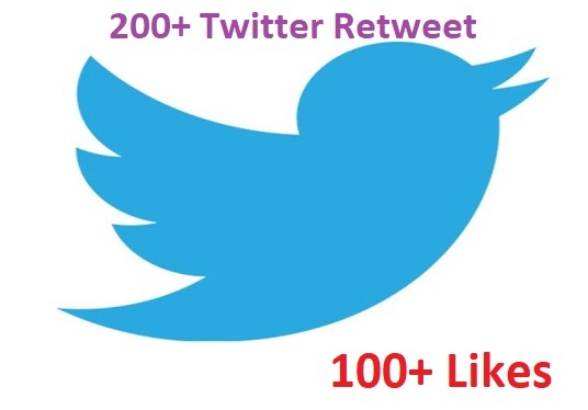 I will give you 200 twitter retweet