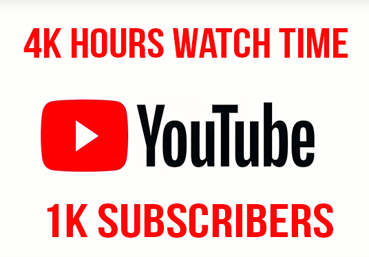 I will provide 1,000 hours watch time and 1k subscribers