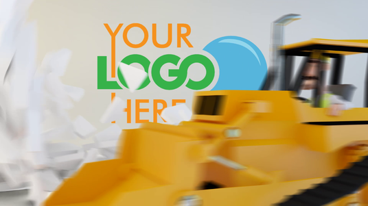 Make 3D Construction Workers Animation Video to Reveal Your Logo