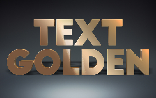I will make Your Text Logo Into Realistic Gold Golden 3d Effect with shadow