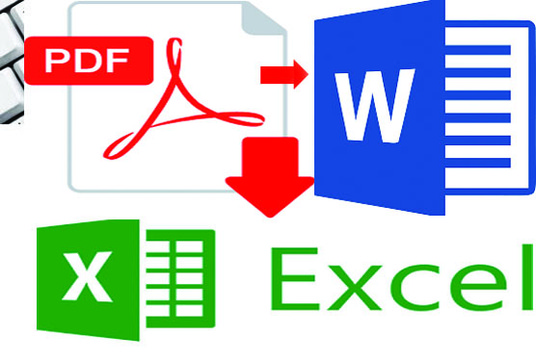 I will convert your document from PDF to Word or Excel or other format