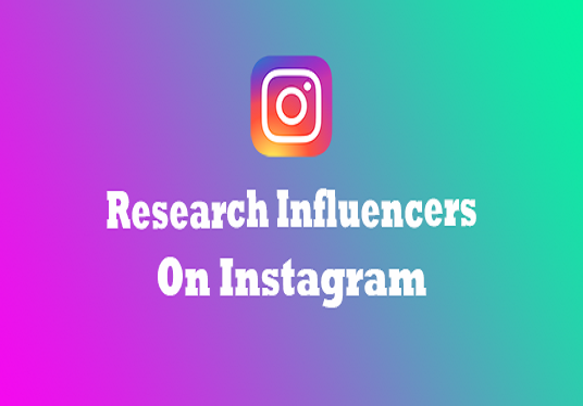 I will Professionally Research Influencers On Instagram