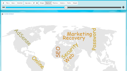 create your own Word Cloud from any text to shape as text-based Poster or Image