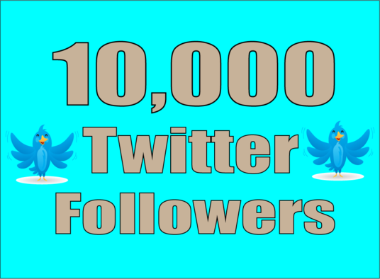 I will Give Real 10,000 Twitter Followers