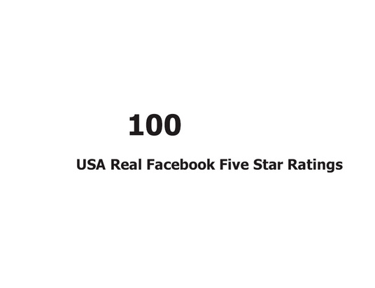 I will Provide you 100+ USA Real Facebook Five Star Ratings only