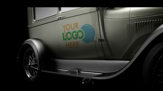 Put Your Logo Or Website Address On A Real Nice Retro Car