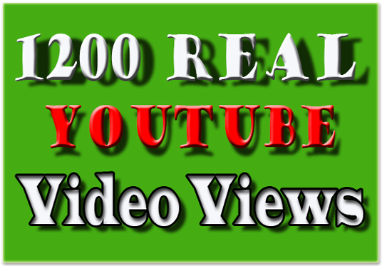 I will provide 1200 Youtube Video Views
