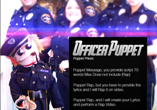I will create a promotional video with Officer Puppet