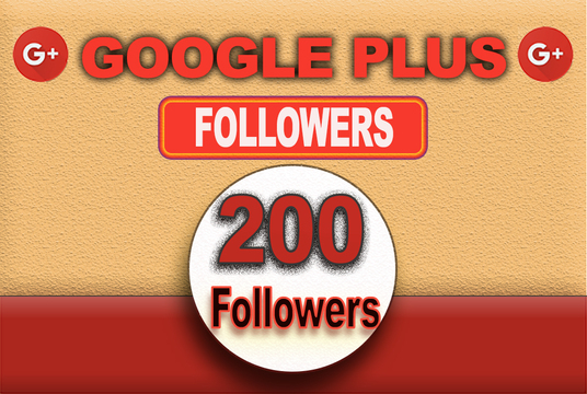 I will give 200 google plus follower for your google plus profile
