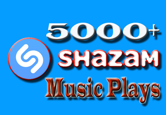 I will Give you 5000+ Shazam music Plays