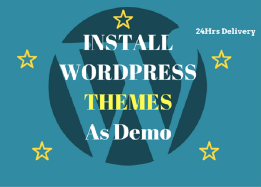 I will Install Your Wordpress Theme And Setup Like Demo