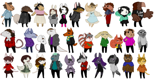 I will draw small personalized animal characters -