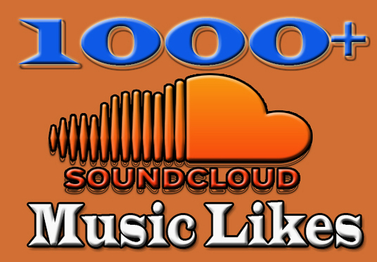I will provide you  1000+ SoundCloud Music Likes