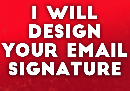 I will design your Email Signature