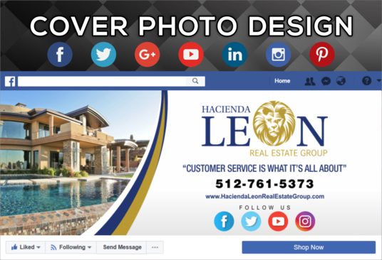 design a facebook, twitter, youtube or linkedin cover banner