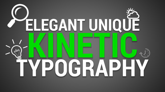 create custom KINETIC TYPOGRAPHY