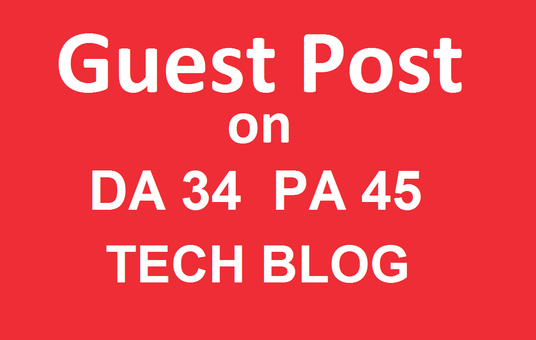 I will Publish a guest post on Techwebspace.com -Technology Blog