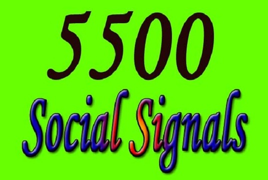 I will provide top quality and real  5500 social shares signals