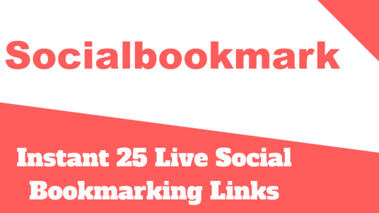 I will Do Instant 25 Live Social Bookmarking Links