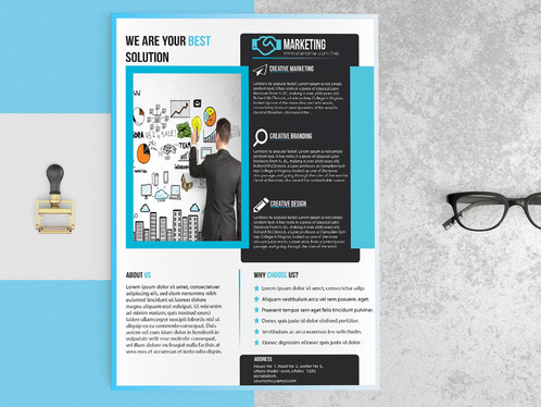 design amazing  flyer or brochure for your business /event
