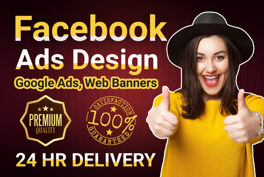 I will  Design Unique Facebook Ads, Web Banners, Google Ads, Covers
