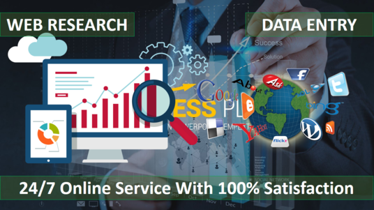 I will do quality web-research, data entry into excel, word, pdf